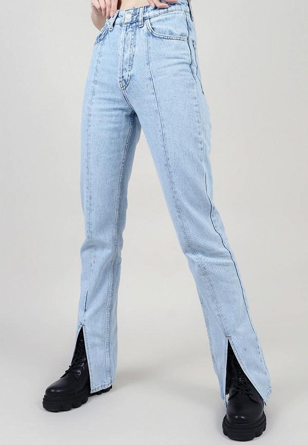 женские прямые джинсы romashka, голубые