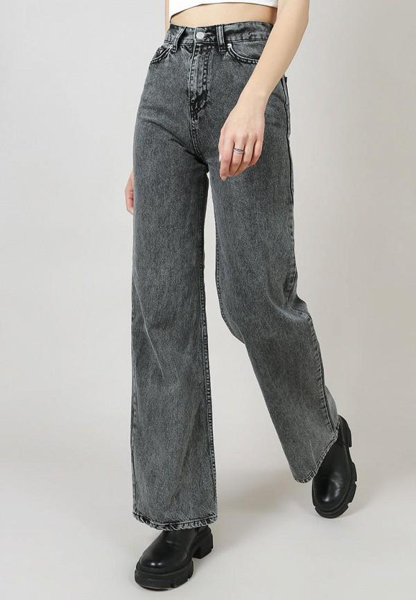 женские джинсы клеш romashka, серые
