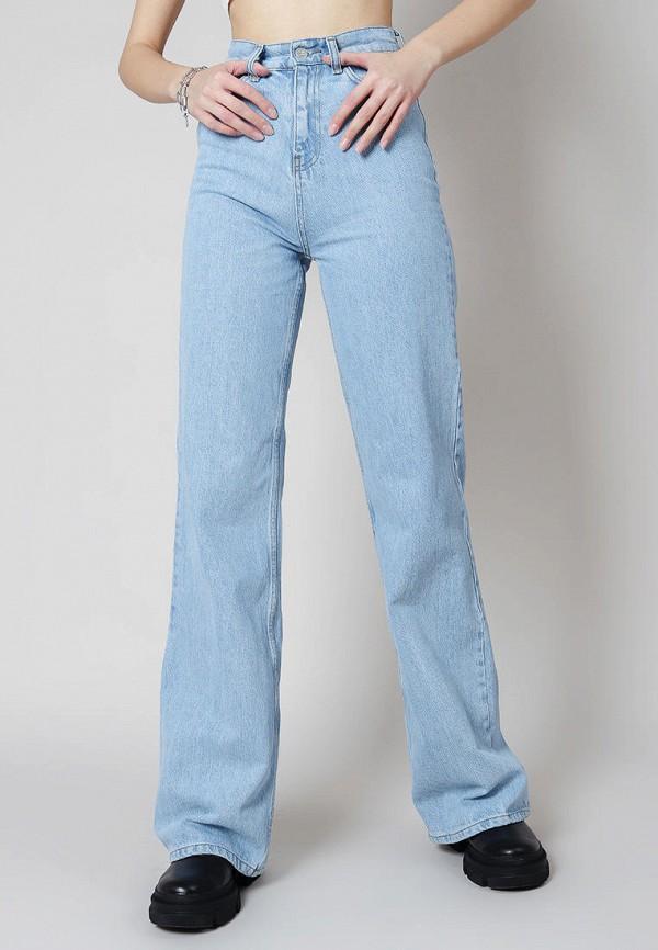 женские джинсы клеш romashka, голубые