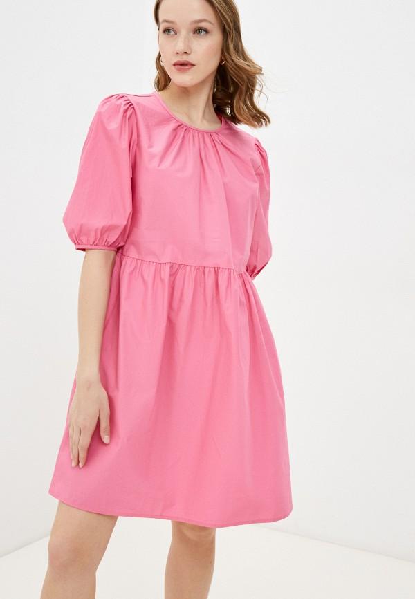 женское повседневные платье incity, розовое