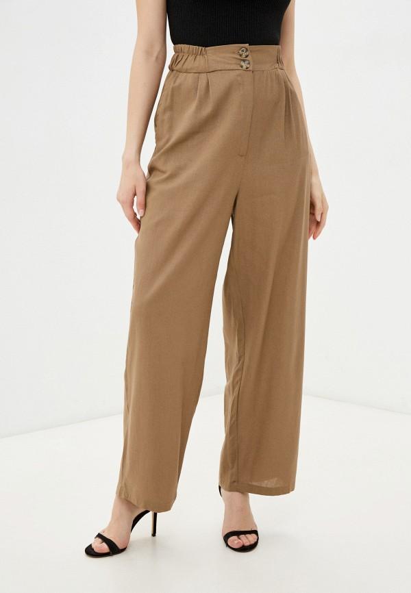женские повседневные брюки incity, коричневые