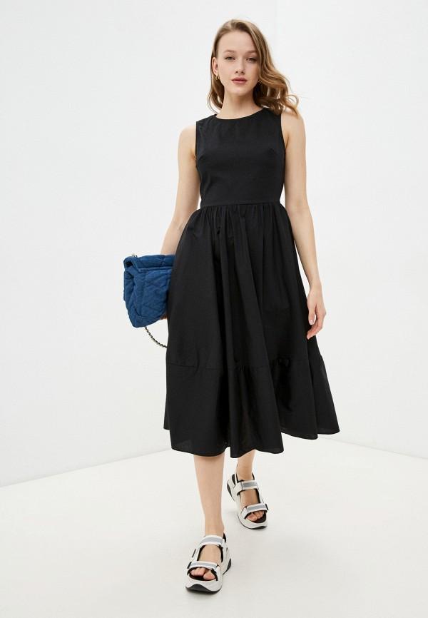 женское повседневные платье incity, черное