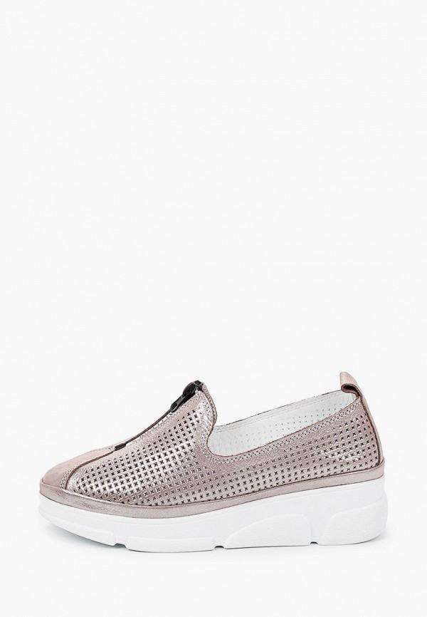 женские туфли с закрытым носом love ballerin's, серебряные