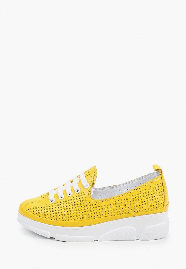 женские низкие кроссовки love ballerin's, желтые
