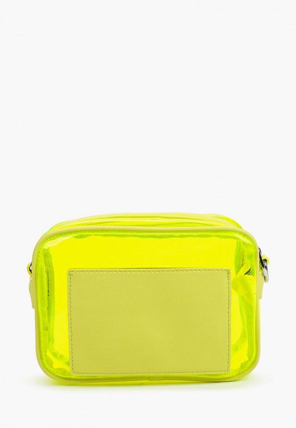 женская сумка через плечо снежная королева, желтая