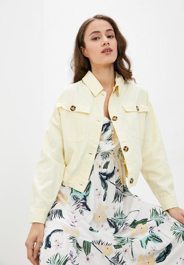 женская легкие куртка zolla, желтая