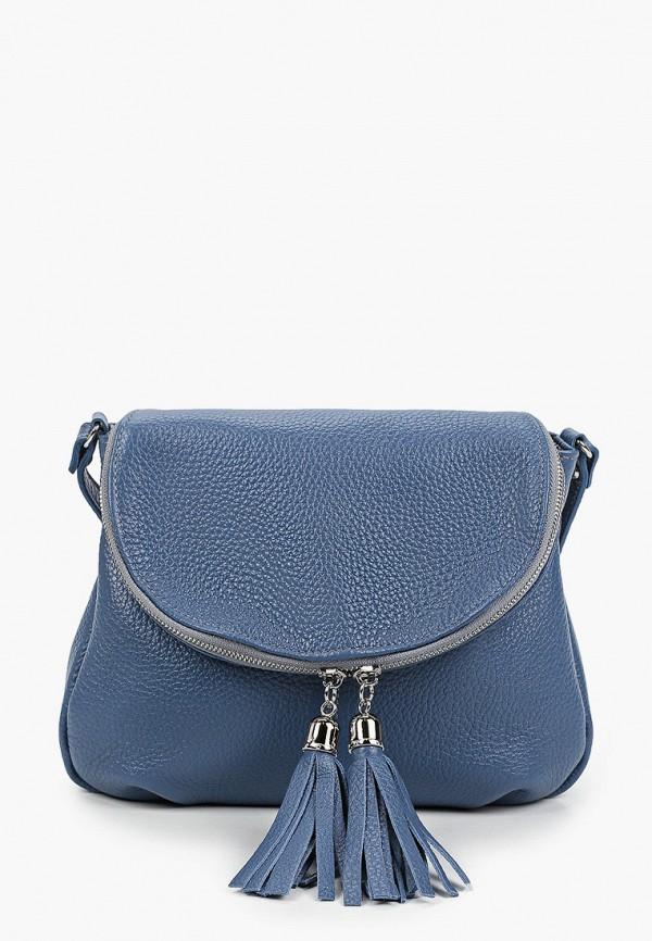 женская сумка через плечо alessandro birutti, синяя