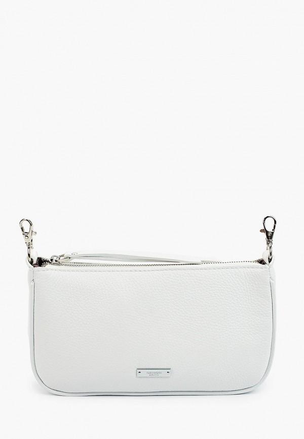 женская сумка через плечо alessandro birutti, белая