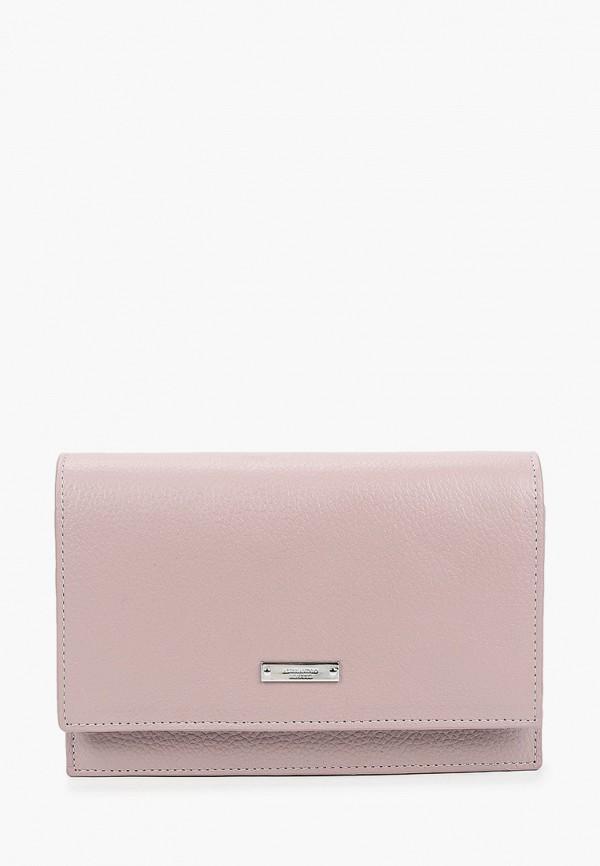 женская сумка через плечо alessandro birutti, розовая