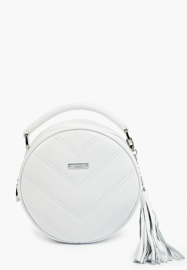 женская сумка с ручками alessandro birutti, белая