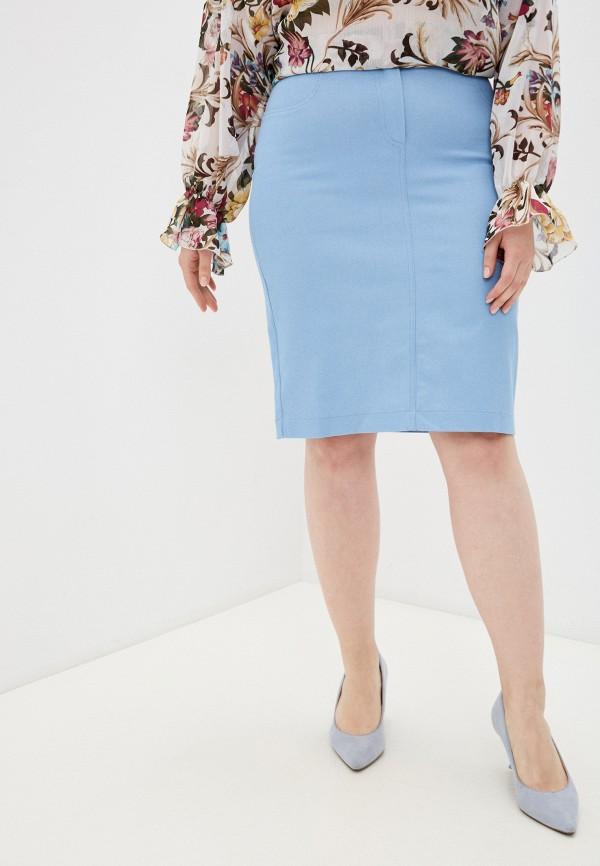 женская прямые юбка viserdi, голубая