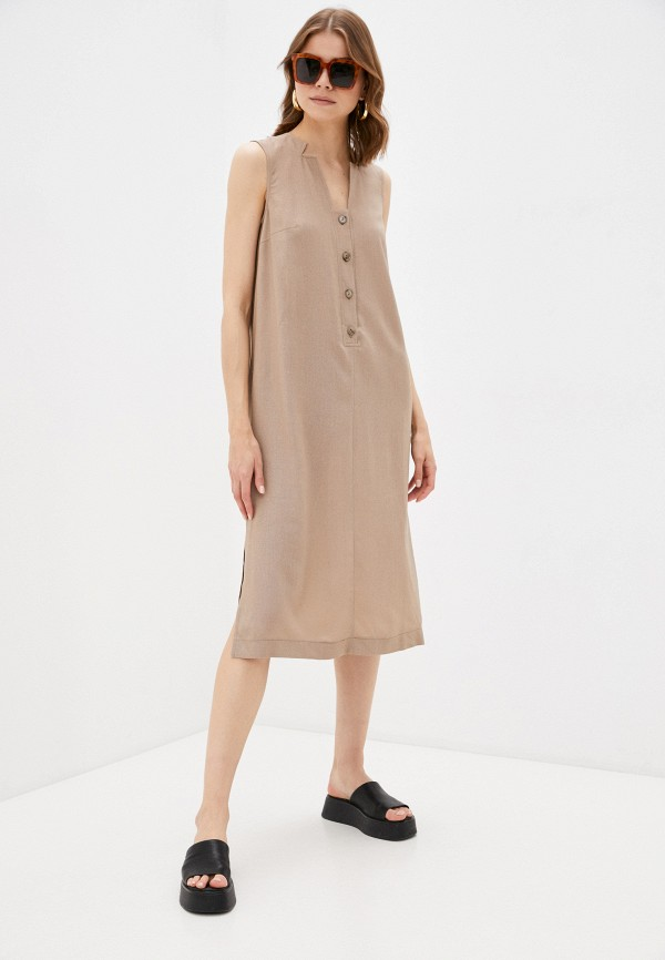 женское повседневные платье viserdi, коричневое