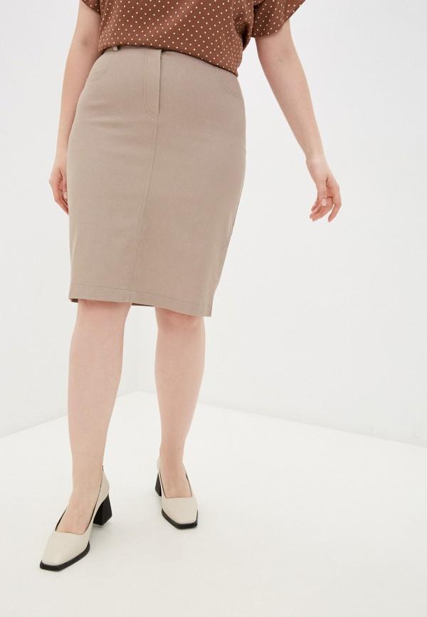 женская прямые юбка viserdi, коричневая