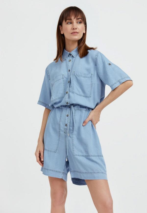 Комбинезон джинсовый Finn Flare голубого цвета