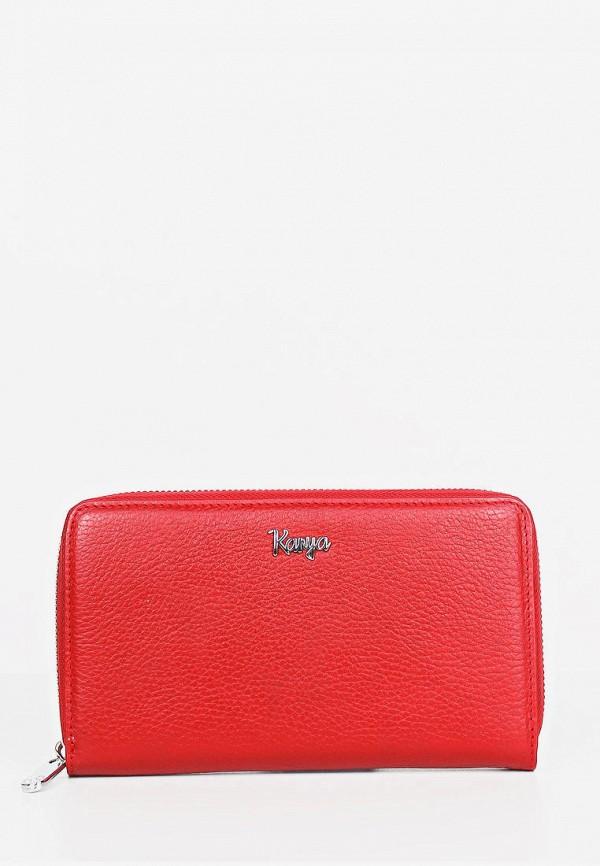женский кошелёк karya, красный