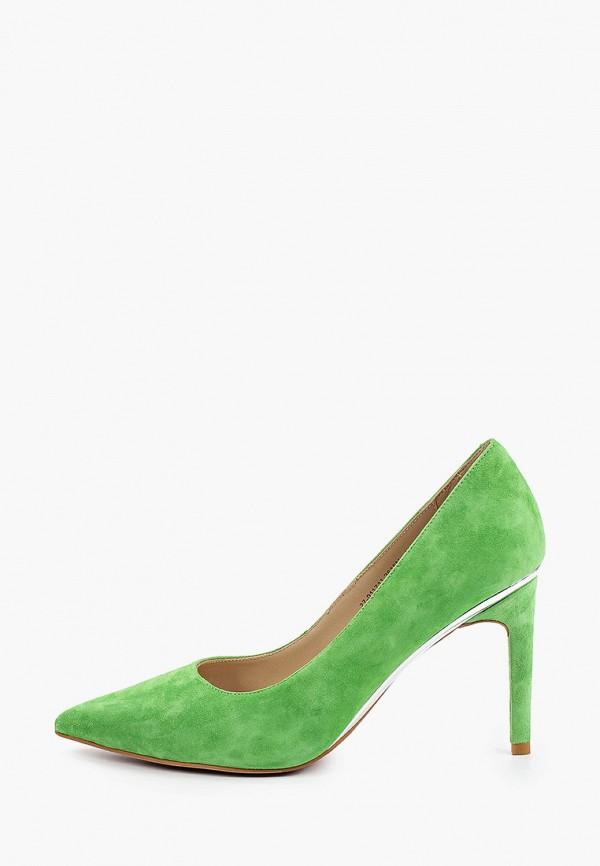 женские туфли-лодочки mascotte, зеленые