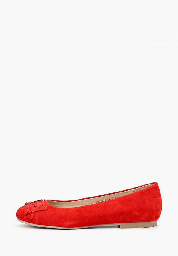 женские балетки mascotte, красные