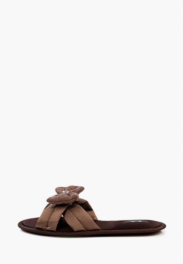 женские тапочки petit pas, коричневые