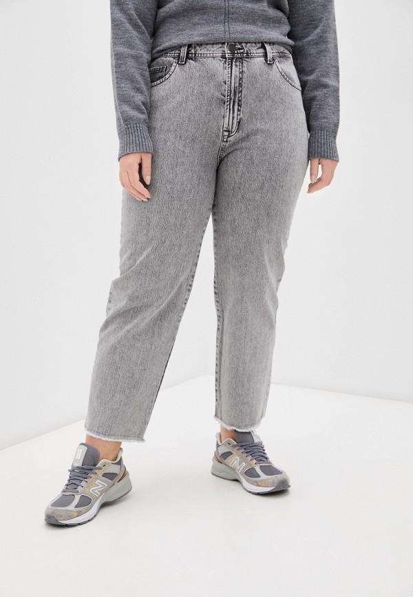 женские джинсы-мом whitney, серые