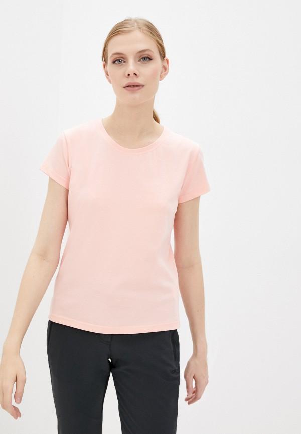 женская футболка d.s, розовая