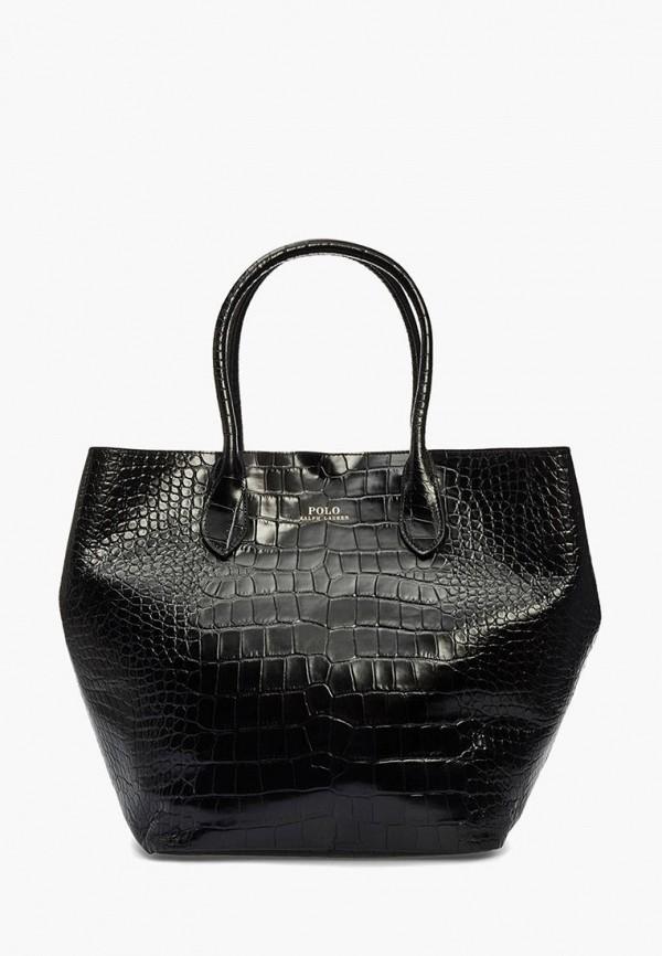 женская сумка polo ralph lauren, черная