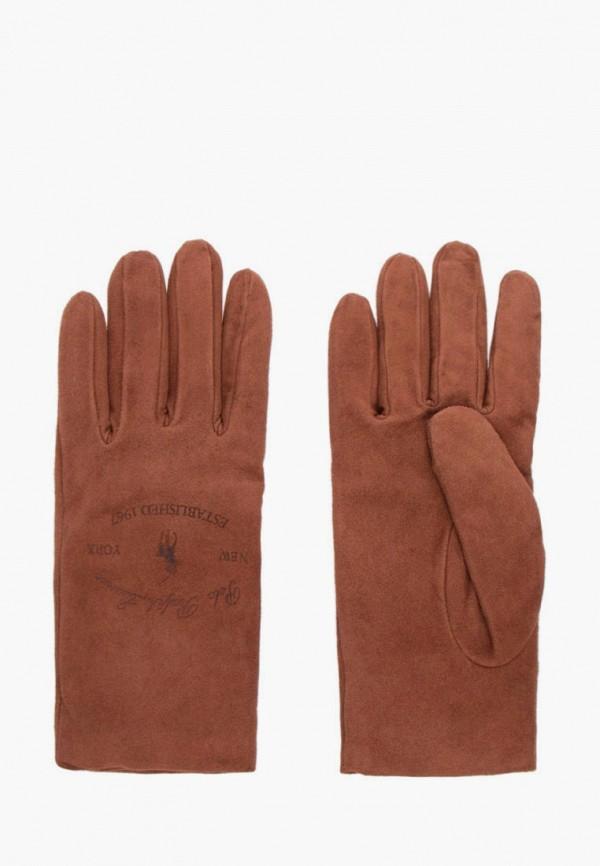женские перчатки polo ralph lauren, коричневые