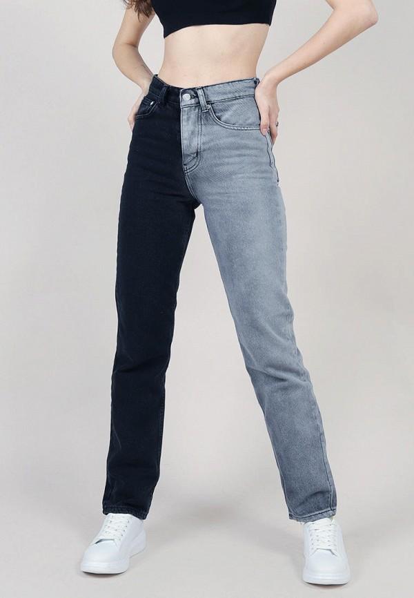 женские прямые джинсы romashka, синие