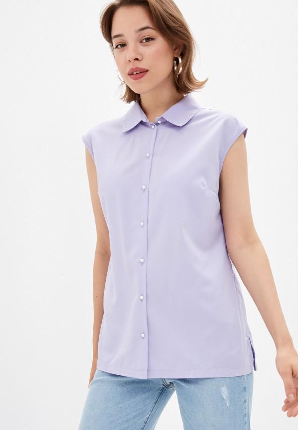 женская блузка без рукавов eliseeva olesya, фиолетовая