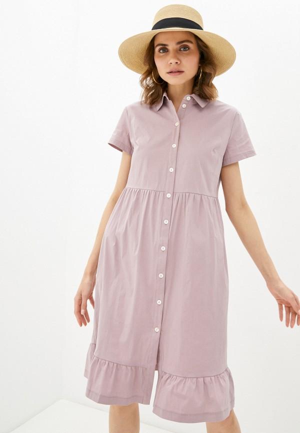 женское платье-рубашки eliseeva olesya, фиолетовое