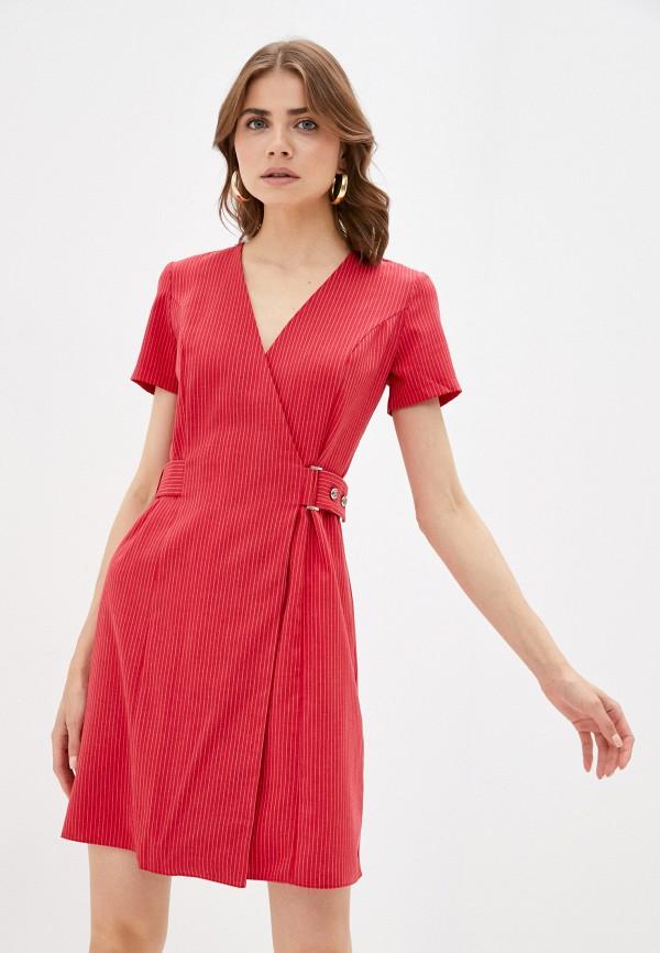 женское платье с запахом viserdi, красное