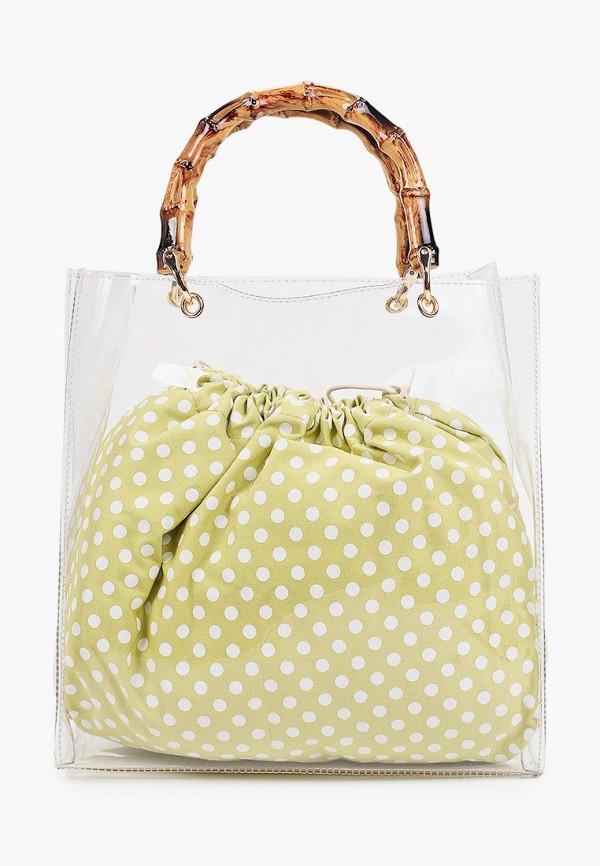 женская сумка с ручками модные истории, зеленая