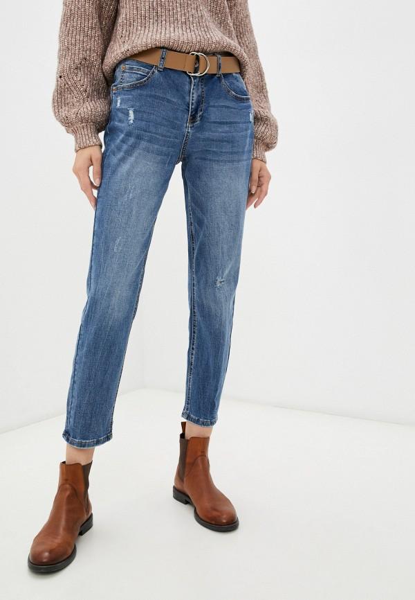 женские джинсы бойфренд zolla, синие