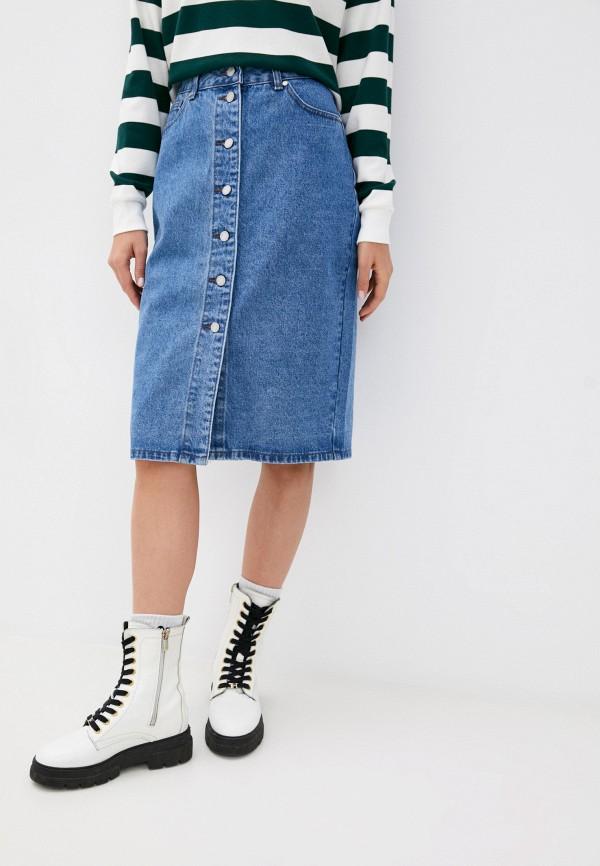 женская джинсовые юбка zolla, голубая