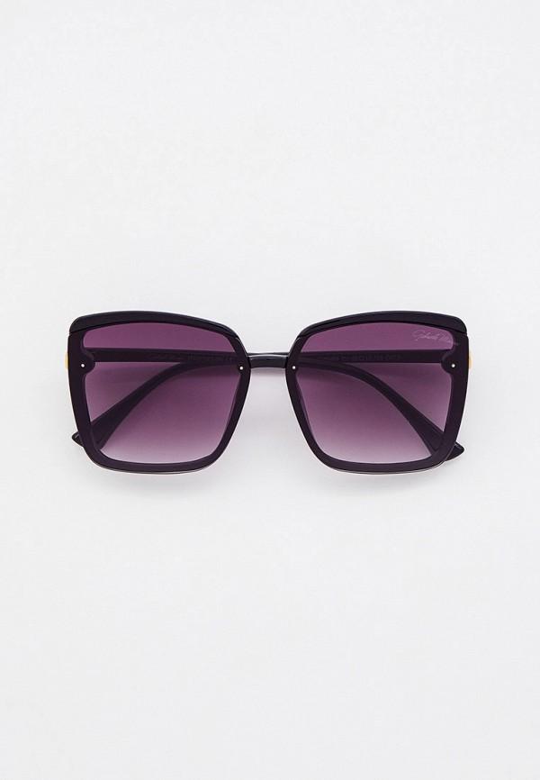 женские квадратные солнцезащитные очки gabriela marioni, черные