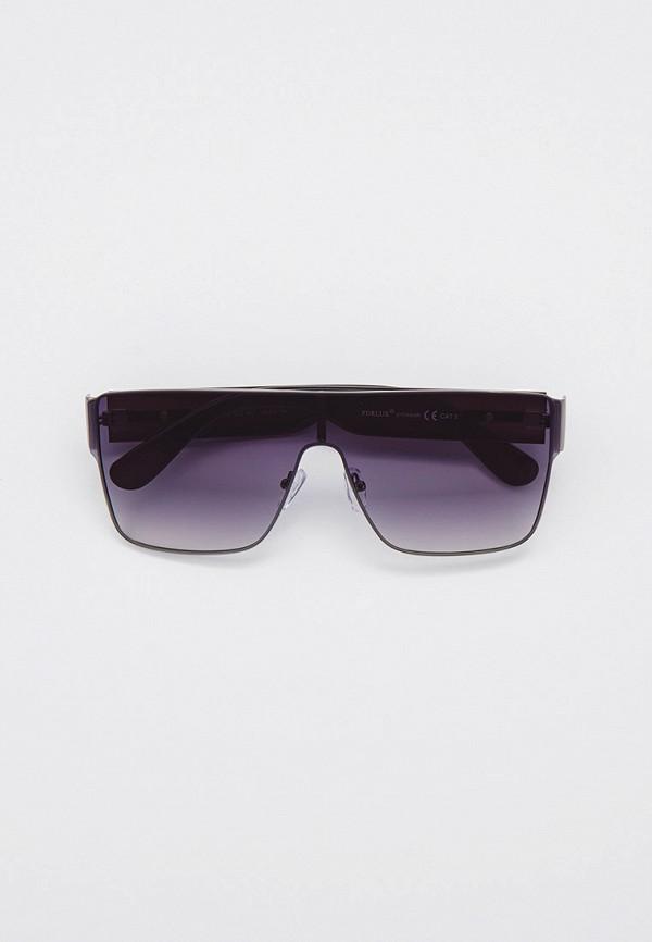женские квадратные солнцезащитные очки furlux, черные