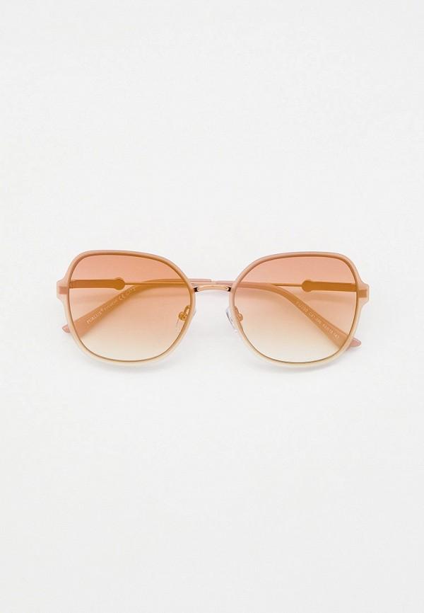 женские круглые солнцезащитные очки furlux, бежевые