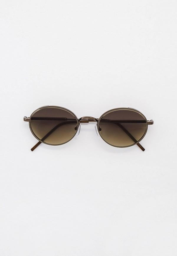 женские круглые солнцезащитные очки furlux, серые