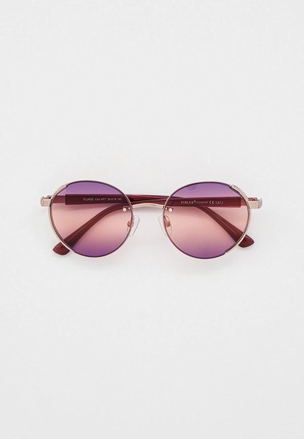 женские круглые солнцезащитные очки furlux, фиолетовые