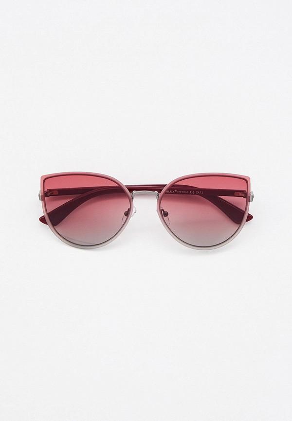 женские солнцезащитные очки кошачьи глаза furlux, бордовые