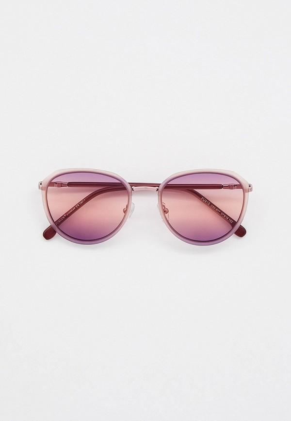 женские круглые солнцезащитные очки furlux, розовые
