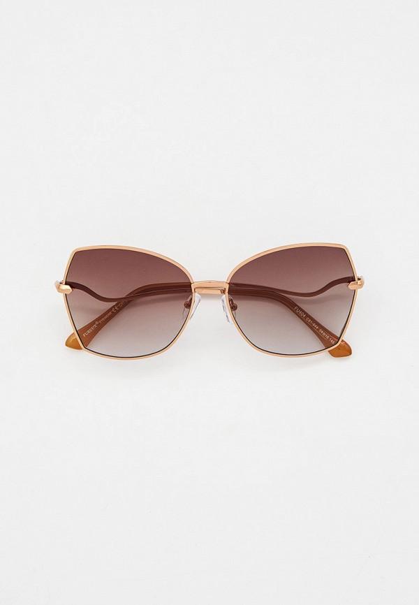 женские квадратные солнцезащитные очки furlux, бежевые