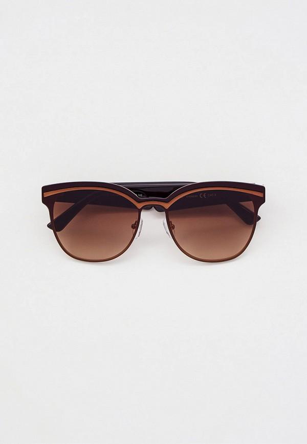 женские круглые солнцезащитные очки furlux, коричневые