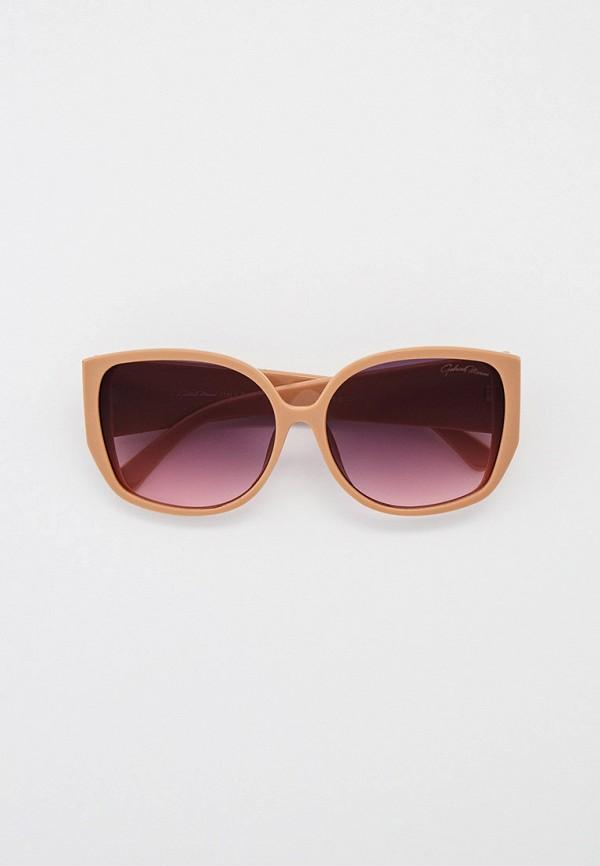 женские квадратные солнцезащитные очки gabriela marioni, бежевые