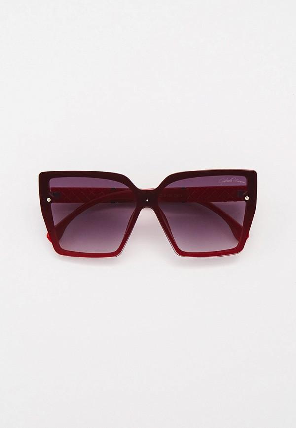 женские квадратные солнцезащитные очки gabriela marioni, красные