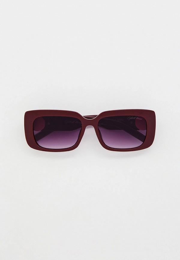 женские квадратные солнцезащитные очки gabriela marioni, бордовые