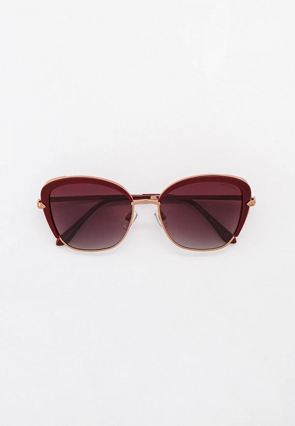 женские солнцезащитные очки кошачьи глаза katrin jones, бордовые