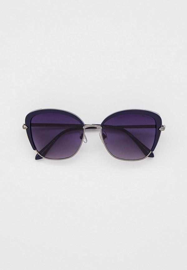 женские солнцезащитные очки кошачьи глаза katrin jones, синие