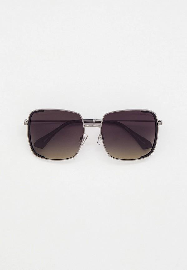 женские квадратные солнцезащитные очки katrin jones, серебряные