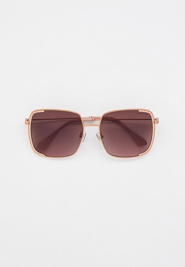 женские квадратные солнцезащитные очки katrin jones, золотые