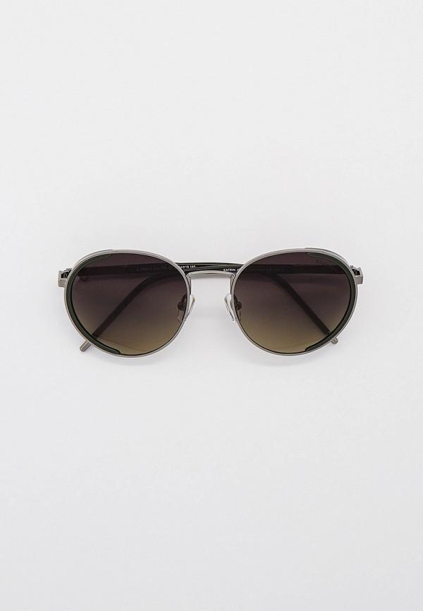 женские круглые солнцезащитные очки katrin jones, серебряные